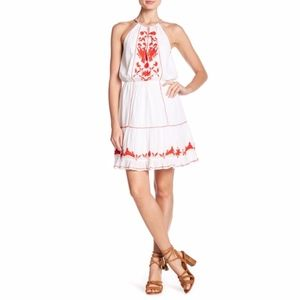 Joie • Clemency White & Salsa Red Dress Size Large